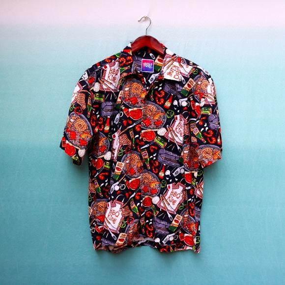 0cc2b0d8 Vintage Shirts | Bbq King Funny Dad Shirt Size Xl | Poshmark